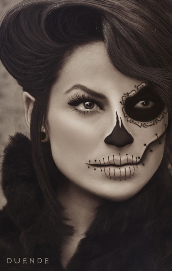 Gallery For &gt Halloween Face Painting Ideas For Women - Ladies Halloween Face Paint