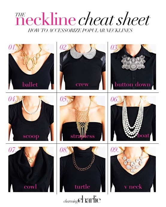 How to wear a necklace