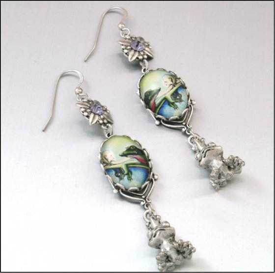 """Enchanted Frog Earrings."""