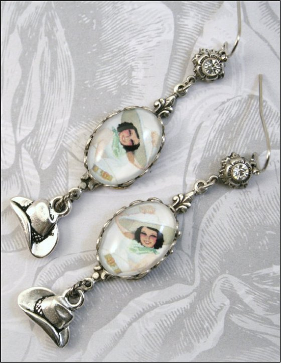 """Silver Cowgirl Earrings."""